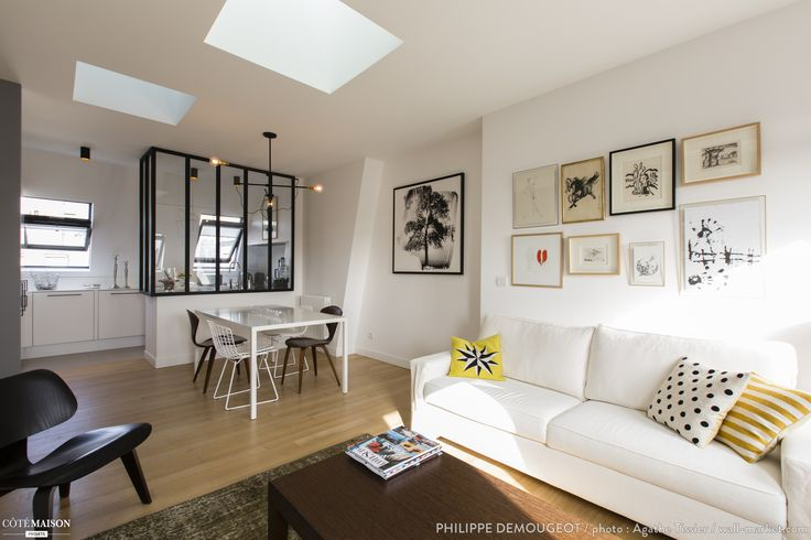 Comment transformer d'anciennes chambres de bonne en un appartement chaleureux ?, Philippe Demougeot - Côté Maison Projets