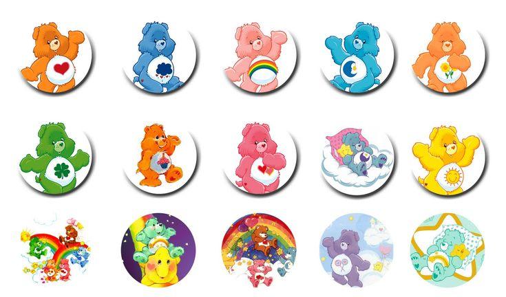 Care Bears Free Digital Bottle Cap Images by Folie du Jour