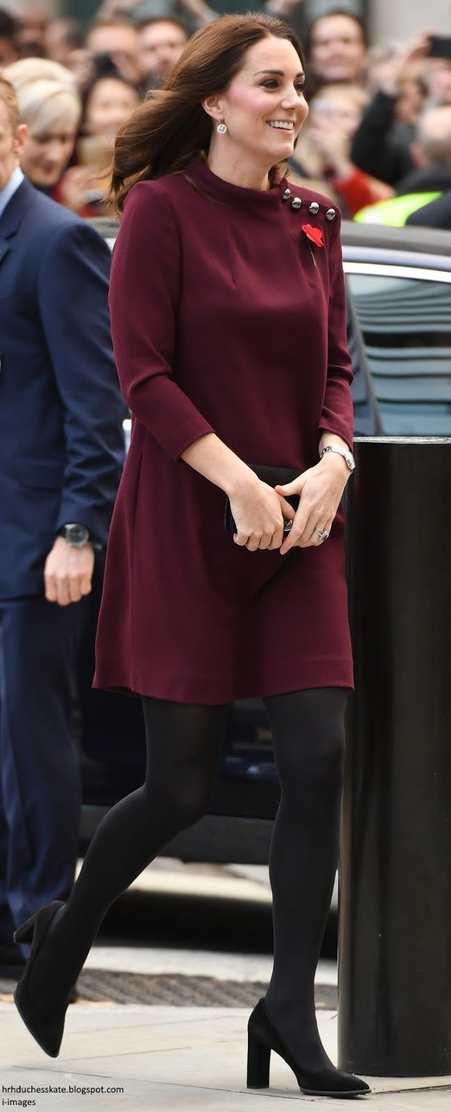 Kate looked chic in the £480 GOAT Eloise Tunic Dress. Duchess Kate: Kate Reveals She's Still Adjusting to Leaving George at the School Gates During Place2Be School Leaders Forum!
