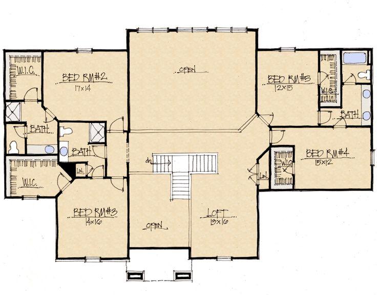 Custom Home Builder Floor Plans: Schumacher Homes (Ridgewood Second Floor)