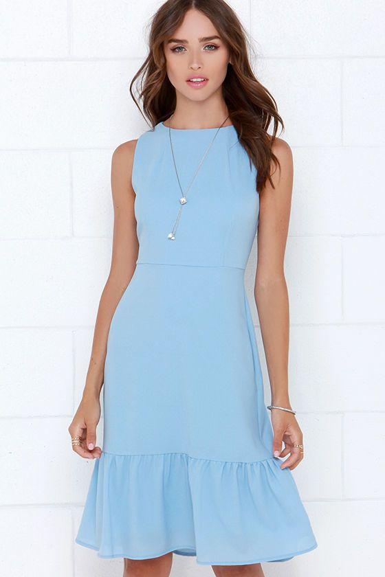 The Dee Elle Ooh La La Light Blue Midi Dress at Lulus.com screams housewife activities and Sunday brunch.