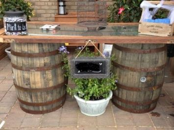 Whiskey Barrels Ideas   Jack Daniels Whiskey Barrels $165