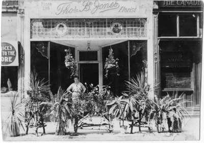 Thomas B. Jones Flower Shop, ca.1920. 112 Brock St. S.