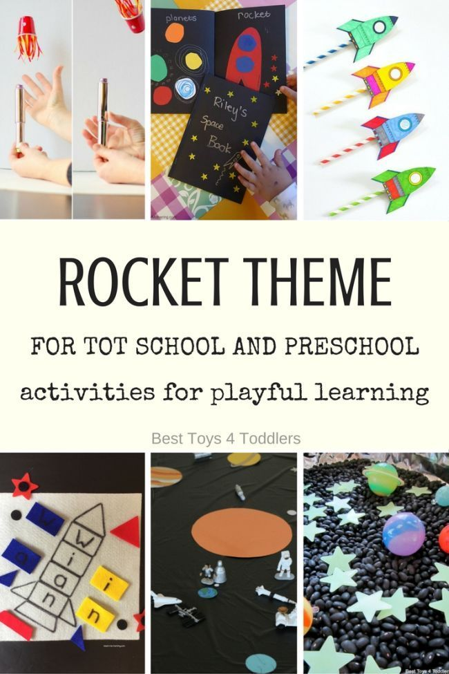 Best Toys 4 Toddlers - Weekly tot school and preschool theme - letter R is for ROCKETS (with free printable weekly planner)