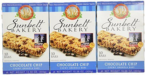 3 Boxes of Chocolate Chip Granola Bars from Sunbelt Bakery.