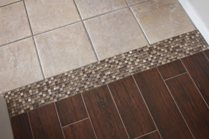 Tile To Tile Transition Using A Mosaic New Tile Is Florida Tile