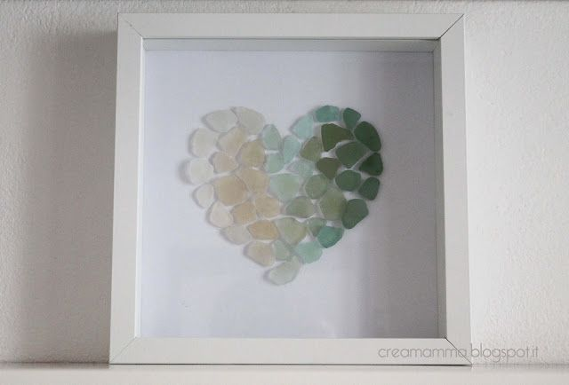 Sea glass heart... I hate heart crafts byt a star fish or shell would be cute!
