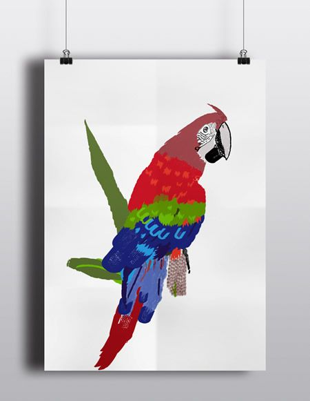 A Bamboo-Zoo project where I used the letters of my name to create the parrot