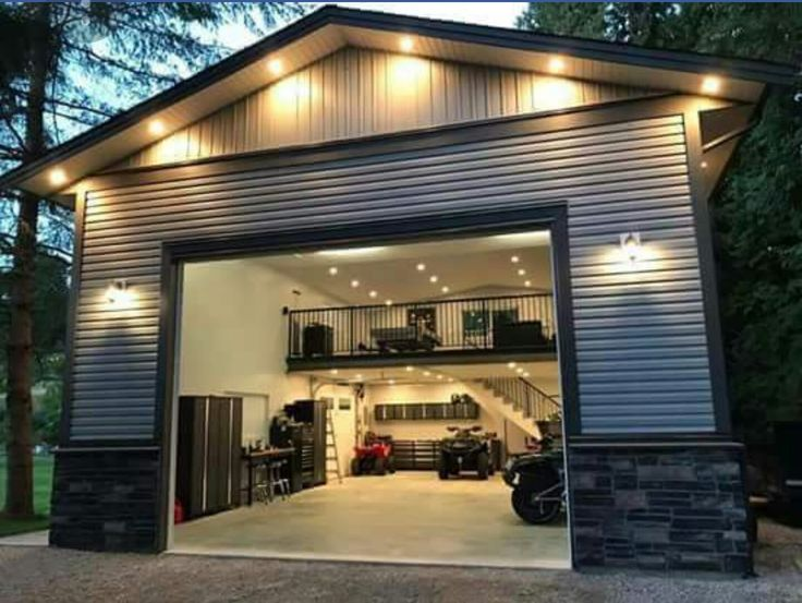 Metal Building Man Cave Garage Design Garage House