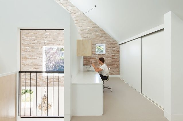 Dulux 'Vivid White' paint in House Maher by Tribe Studio.