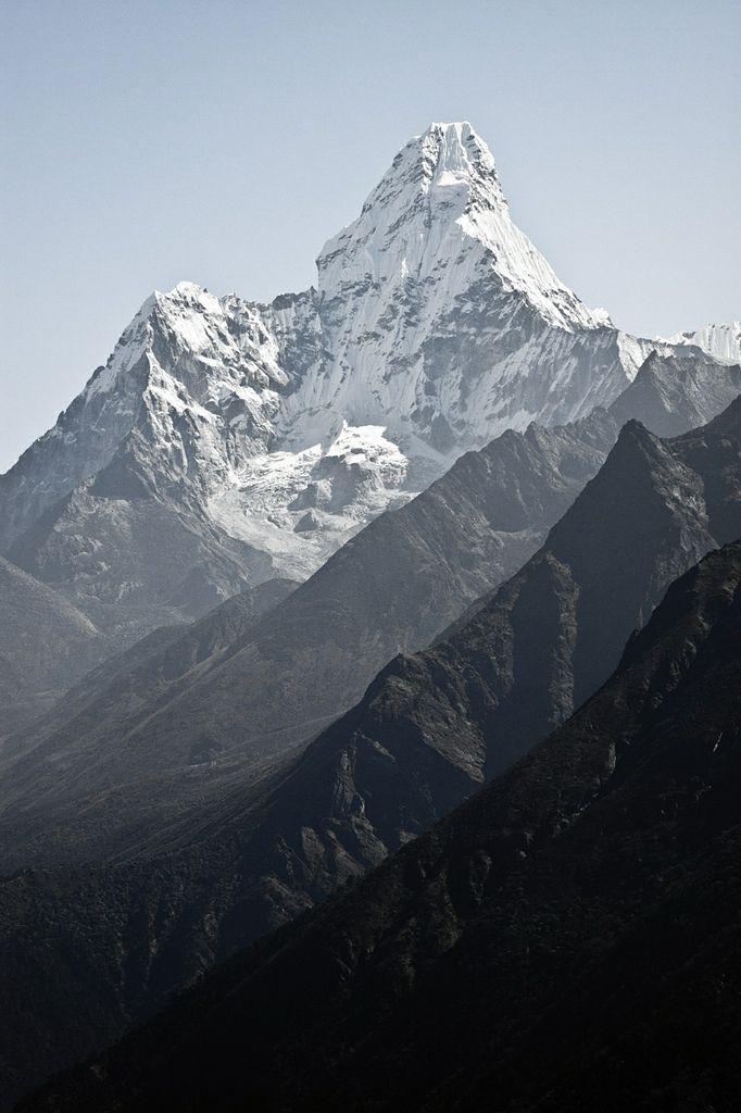 Ama Dablam mountain in Nepal Himalayas by denis messlé