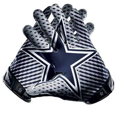 Nike Dallas Cowboys Vapor Jet 2.0 Team Authentic Series Gloves #fanatics