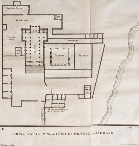 Planimetria Abbazia di Casamari, Verole- Frosinone