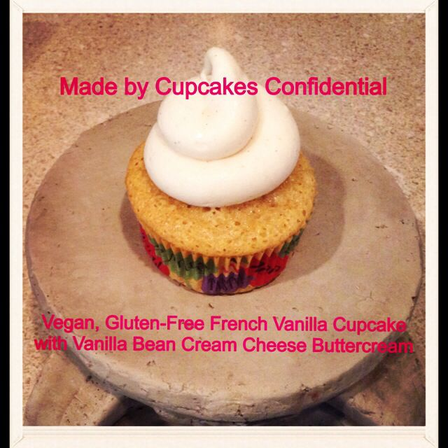 Today's Cupcake: Vegan, Gluten-Free French Vanilla Cupcake with Vanilla Bean Cream Cheese Buttercream #vegan #glutenfree #french #vanilla #cupcake #vanillabean #cream #cheese #buttercream #frosting #bakery #baking #cupcakery #cupcakeart #disabled #veteran #donationsaccepted #online #edibleart #fromscratch #givingback #gratitude #help #heroes #homemade #helpavet #inneed #military #nonprofit #order #thankful #unsungheroes #veterans