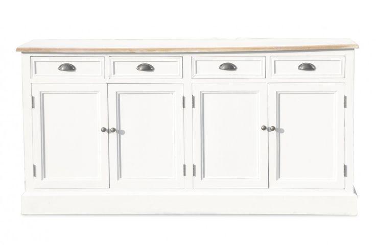 Sideboard Burgund - Antik-Look - weiß/graubeige - lackiert