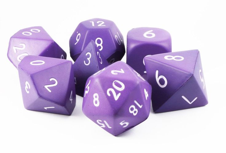 Giant Foam RPG Dice (Purple) | 7-Set Squishy Dice – Dark Elf Dice