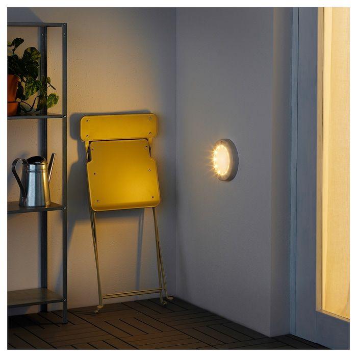 Stotta Decken Wandleuchte Led Batteriebetrieben Weiss Ikea Wandlampe Wandleuchte Lampe