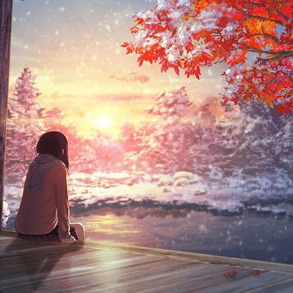Anime Scenery Autumn Sunset 4k 38402160 53 Wallpaper For Desktop Laptop Autumn Scenery Aesthetic Wallpapers Landscape Wallpaper