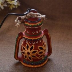 #Home_Décor | Handicraft | Online Store | Ethnic | INDIA #FIND THE #PERFECT_GIFT,#EVERY_TIME #We've #Selected the best  🎁Gift Ideas  💭 for every 🎆OCCASION  🎊. 🌈Shop #now_from Our  🎀Customized  🎍gift #Recomendation ------------------------------------ http://www.indikala.com/hanging-red-terracota-lamp-with-bulb.html