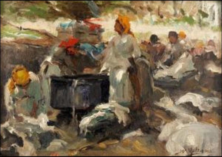 Jose Malhoa, lavadouro (1922)