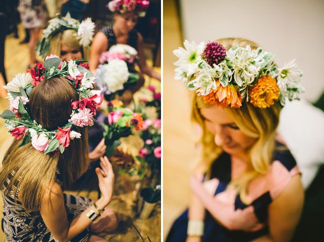 nice idea for hen night: make your own flower crown