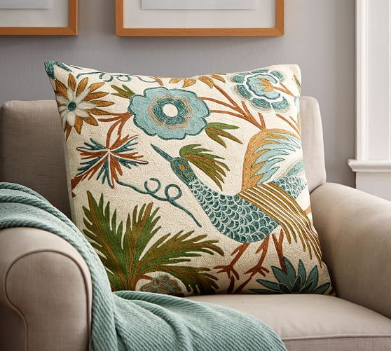 Louisa Embroidered Pillow Cover | Pottery Barn