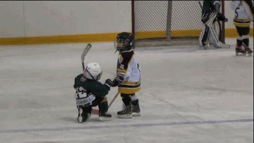 Hero! | This Tiny Little League Hockey Player Helping Her Rival Off The Ice Will Warm Your Heart