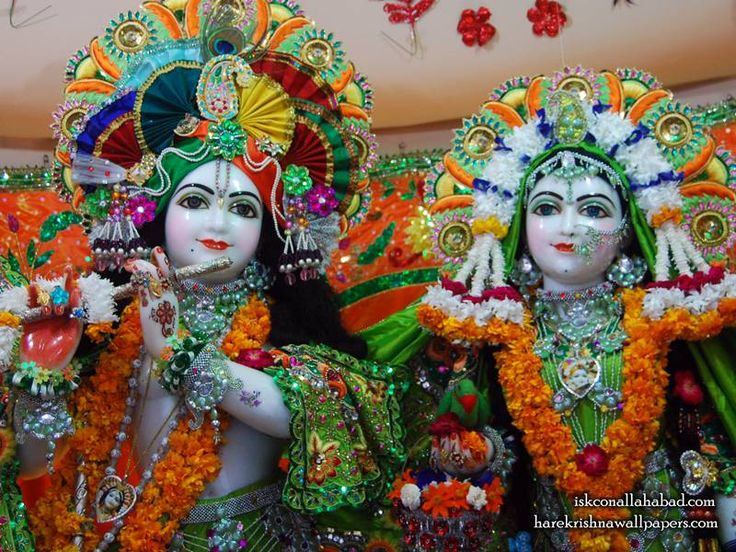 Sri Sri Radha Venimadhava Close up Wallpaper