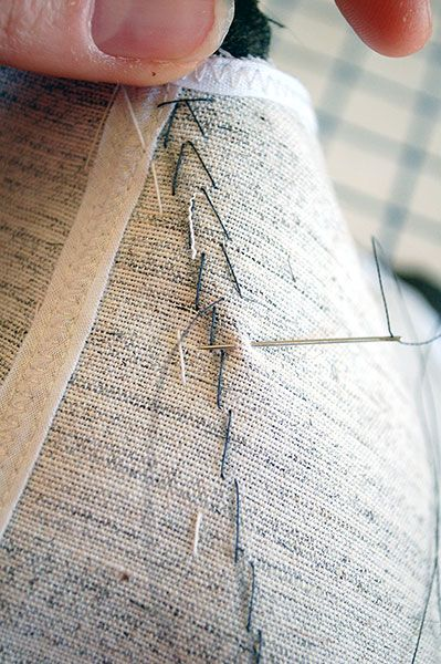 Tailoring How-To: The Pad Stitch & Prepping Collar Pieces – Wearing History® Blog