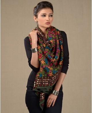 Phulkari Scarves from Exclusively.In
