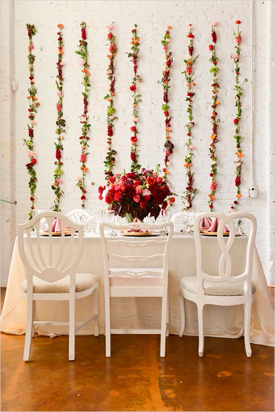 Floral Inspiration- #flower_wall from a brunch wedding.