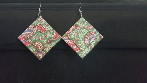 Check out this item in my Etsy shop https://www.etsy.com/au/listing/502669083/geometric-fabric-earring
