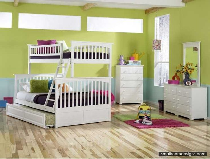 Added Trundle For Your Bunk Beds Design And Style - http://www.smallroomdesigns.com/small-bedroom-design/added-trundle-for-your-bunk-beds-design-and-style.html