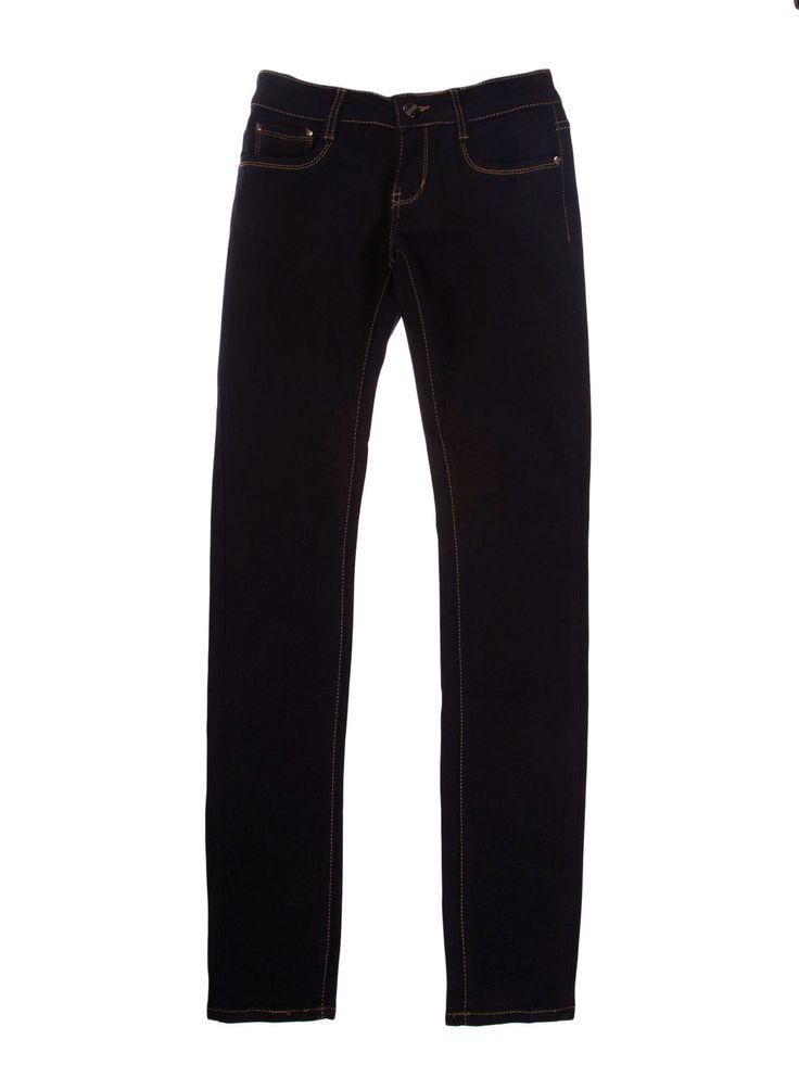 Spodnie damskie rurki gładkie długie - XSJ0050 - odzież damska - txm24.pl granatowe