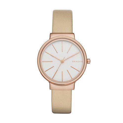 Moderne Damenuhr Skagen Leder taupe roségold SKW2489 https://www.thejewellershop.com/ #skagen #damenuhr #rosé #leder #beige #woman #watch #uhren #uhr #jewelry #schmuck