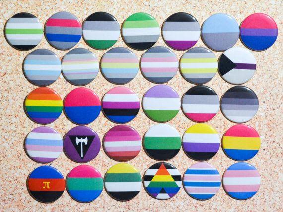 PRIDE FLAG Pins -Mix & Match- DemiBoy, DemiFluid, DemiFlux, DemiGirl, DemiNonBinary, Demisexual, Gay, Gender Binary Pride LGBTQ+ Buttons