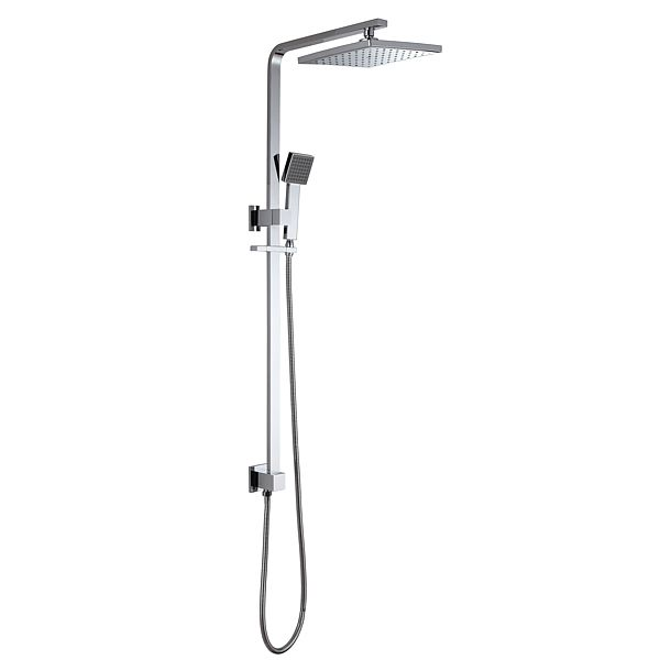Luxury Square Twin Water Shower Rail, With Over Head Shower and ...