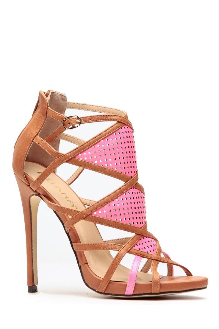 Tan Modern Aztec Contrast Heels @ Cicihot Heel Shoes online store sales:Stiletto Heel Shoes,High Heel Pumps,Womens High Heel Shoes,Prom Shoes,Summer Shoes,Spring Shoes,Spool Heel,Womens Dress Shoes