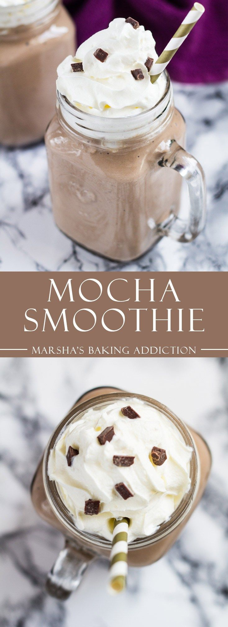 Mocha Smoothie | marshasbakingaddiction.com @marshasbakeblog (Chocolate Milkshake Starbucks)