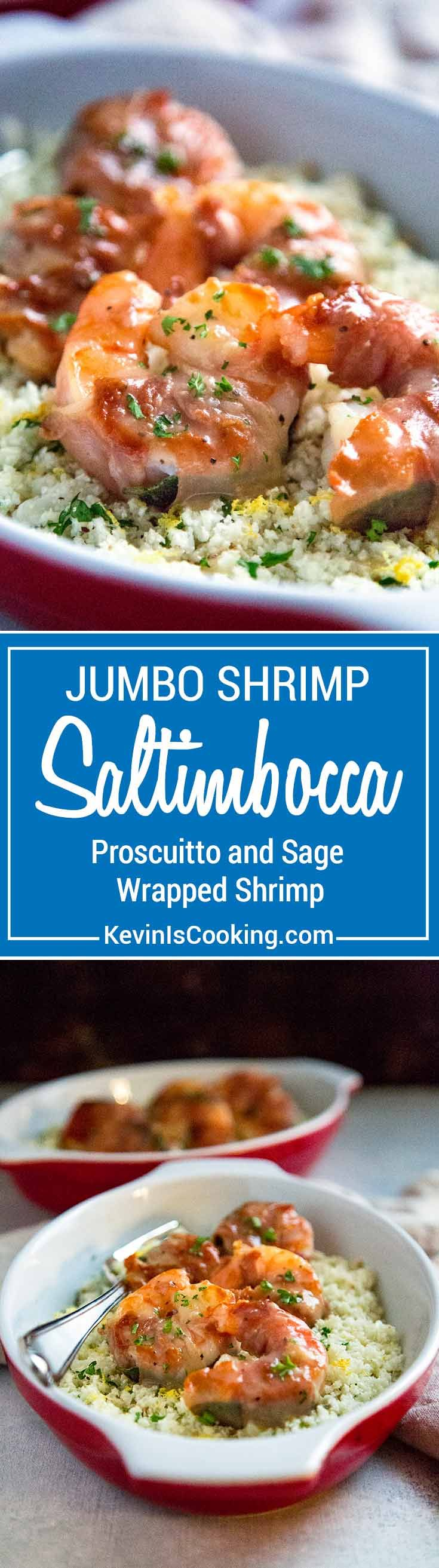 Instead of using the traditional veal for this recipe I thought using jumbo shrimp would make a wonderful substitute. I wasn't wrong. This Shrimp Saltimbocca is amazing! via @keviniscooking