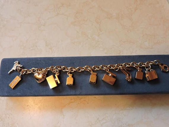 Dolce and Gabbana Perfume Bottle Heart & Shoes Charm Bracelet