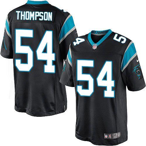 Nike Limited Shaq Thompson Black Youth Jersey - Carolina Panthers #54 NFL Home