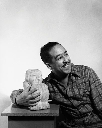 an analysis of the writing style of langston hughes an african american writer American literature/20th century/langston hughes  he became an avid writer while he was in school, writing for the school  and the music of the african.