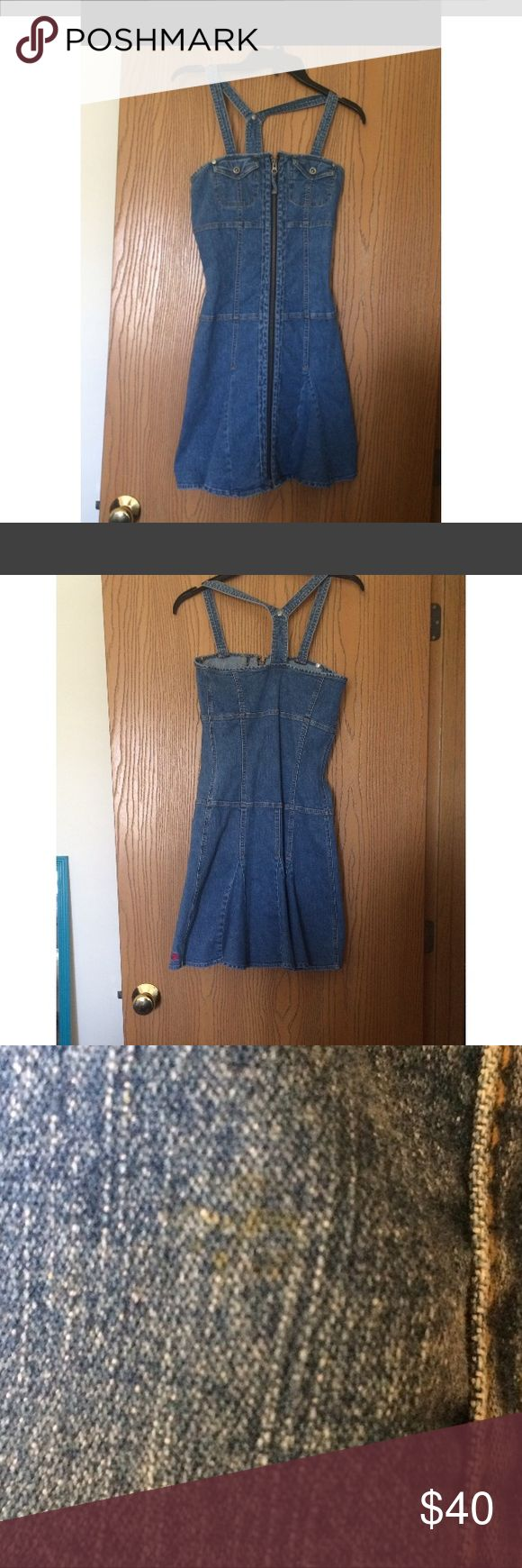 Tommy Jeans Denim Dress Vintage Denim dress from tommy Highfligher! Be totally in style this summer with this awesome dress! Would look great paired with a crop top! Size small! Does have a small spot, should wash out and is pictured! Tommy Hilfiger Dresses Midi