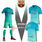 Fr-Football: FC Barcelone 2016-2017 Saison Personnalise Maillot De Foot Third Vert |Thai Edition