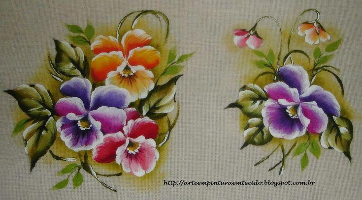 Pintura em Tecido Passo a Passo Com Fotos: Galeria Flores