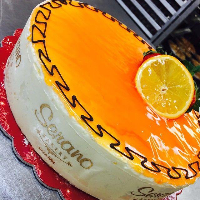 Orange mousse!!! #cake #dessert #fresh #citrus #oranges #seranobakery #greekbakery #Toronto #bakery