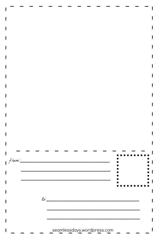 43 best Blank Templates images on Pinterest Teaching ideas - printable postcard template free