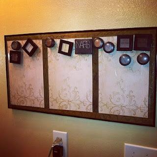 Magnetic makeup board... love!
