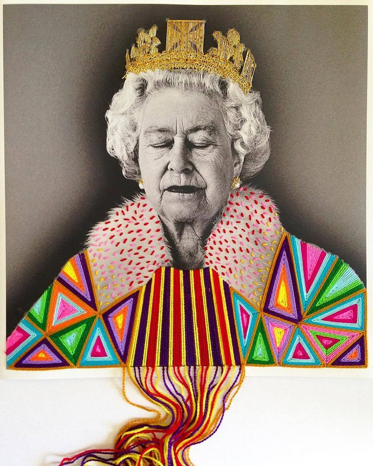 Colorfully Embroidered Vintage Photos Of Artists And